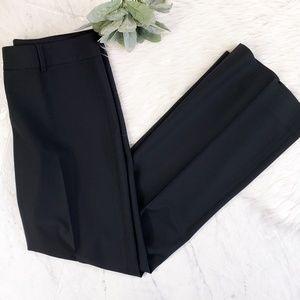 Theory Black Wool Wide Leg Trouser Pleated Pants